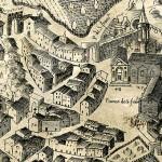 Perugia. Mappa antica della città