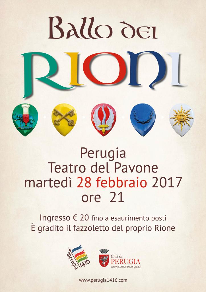 Ballo dei Rioni, 28 febbraio 2017 al Teatro del Pavone