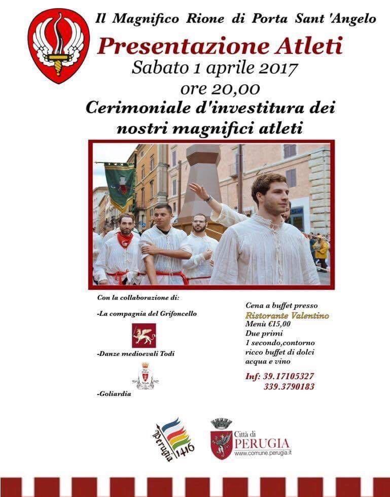 Cerimonia di investitura degli atleti del Magnifico Rione di Porta Sant' Angelo