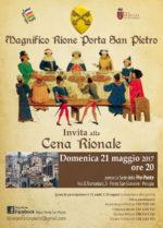 Cena rionale Magnifico Rione Porta San Pietro