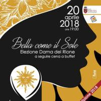 Elezione della dama 2018 del Magnifico Rione Porta Sole